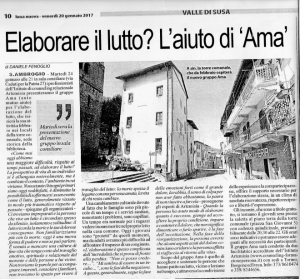 Articolo tratto da Luna Nuova del 20 gennaio 2017, presentazione del gruppo AMA a Sant'Antonino