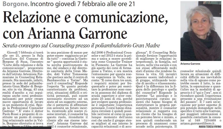 Relazione e comunicazione, con Arianna Garrone