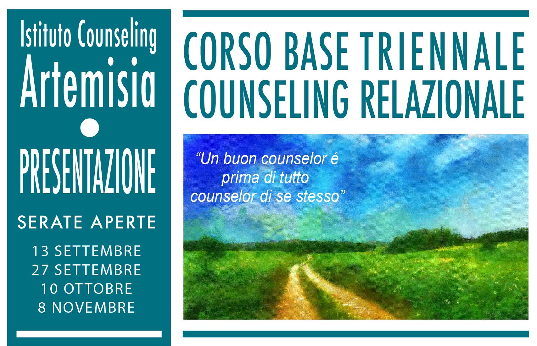 Presentazione corso triennale in Counseling Relazionale - Istituto Artemisia