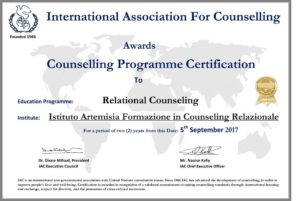 L'Istituto Artemisia membro dell'International Association for Counseling - IAC-Certificate-CRITs17