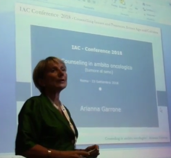 IAC Conference 2018 – Arianna Garrone: Counseling in ambito oncologico – Prima parte