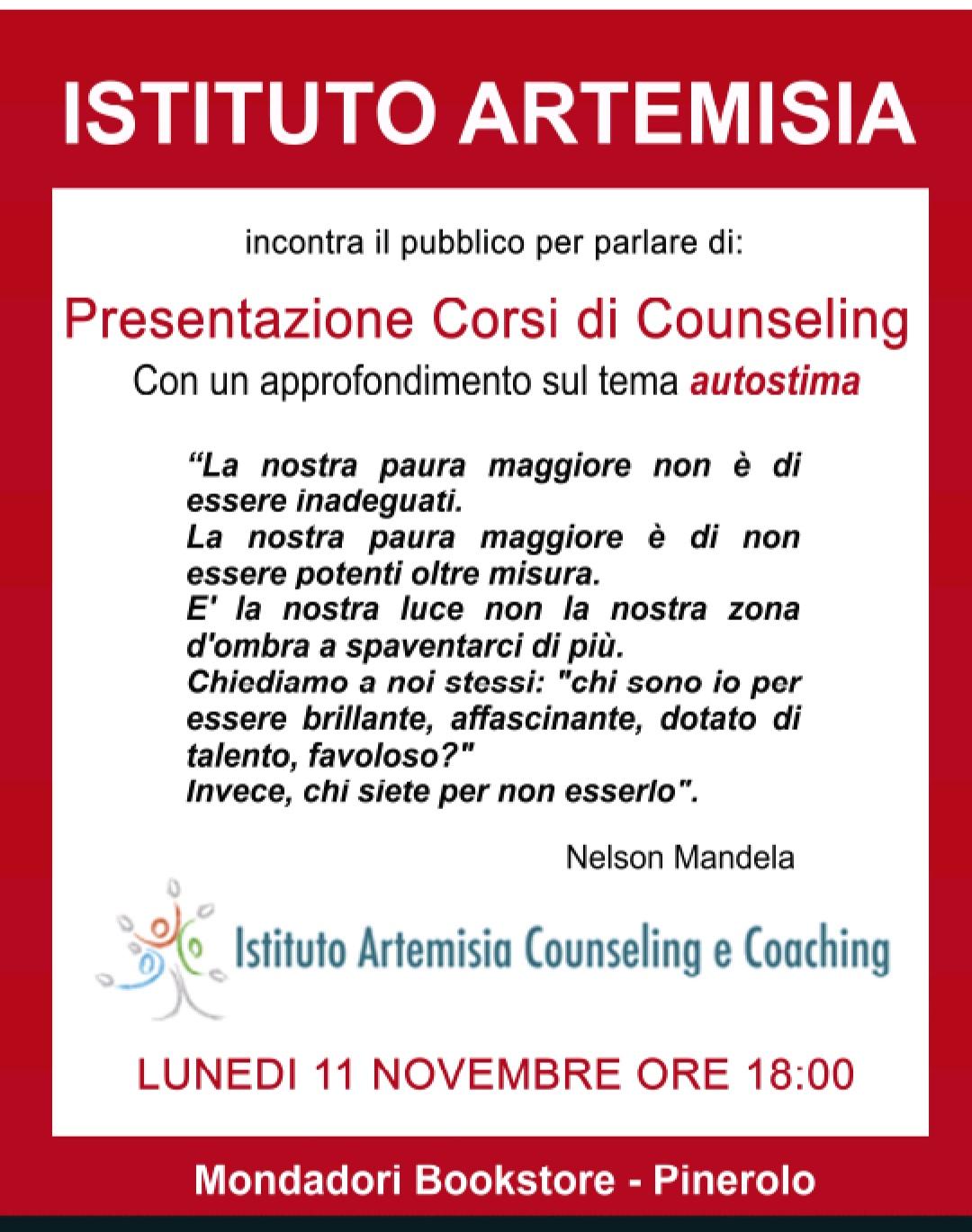 Presentazione corso in Counseling Relazionale e conferenza sull'Autostima
