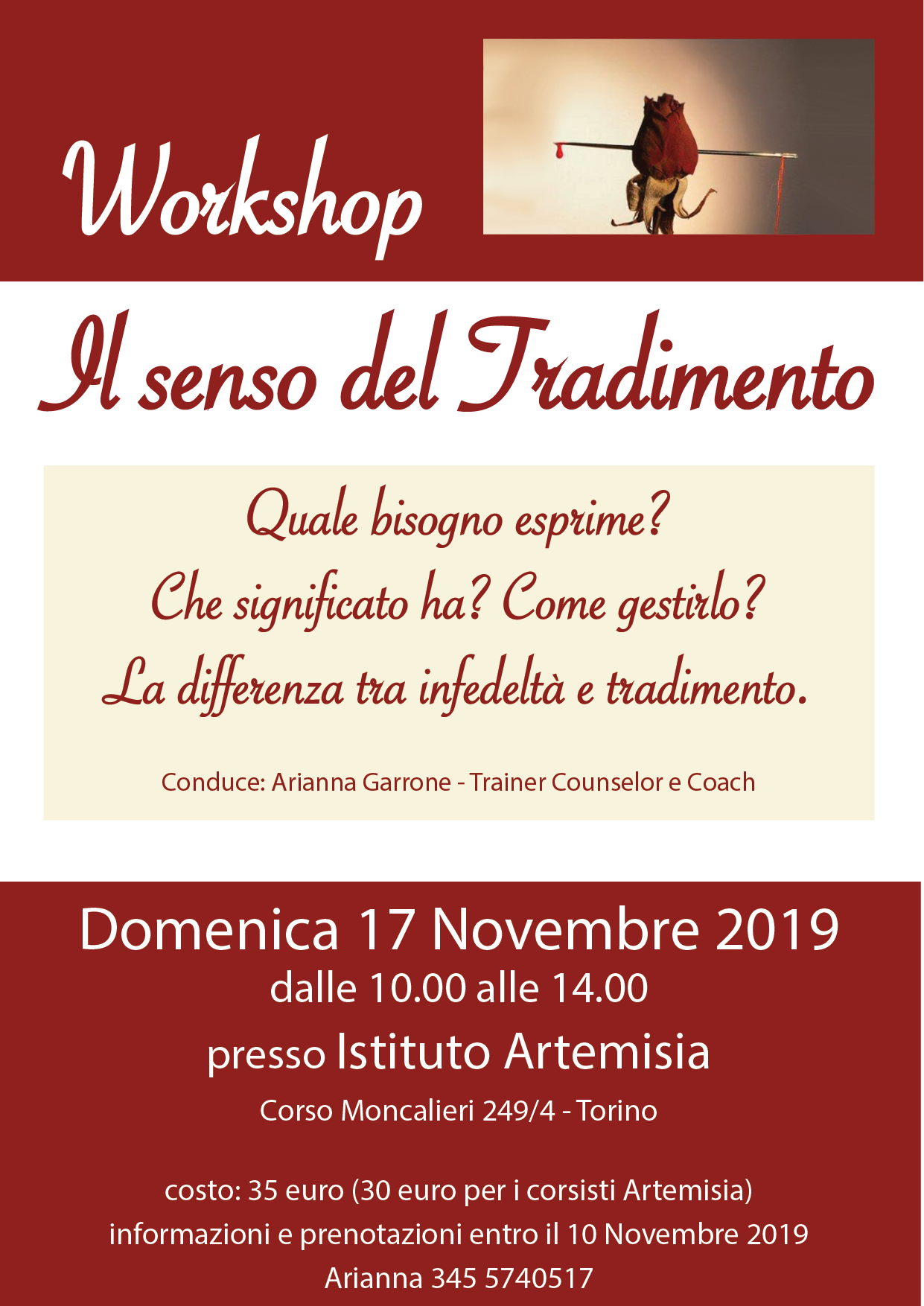 Workshop - Il senso del tradimento