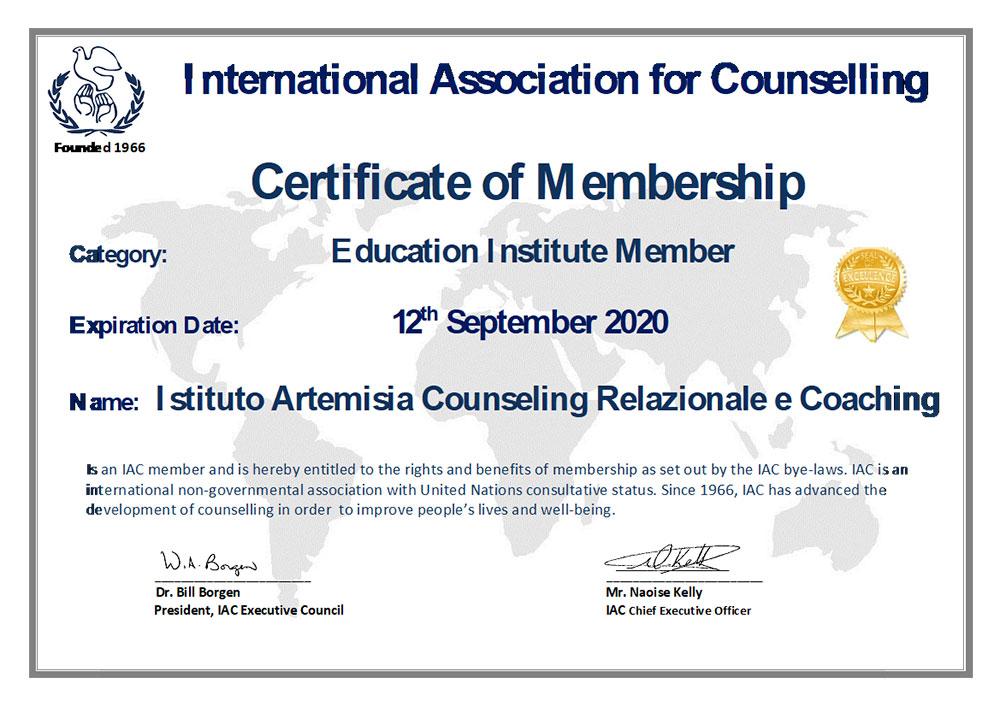 Abilità di Counseling: certificazione Istituto Artemisia