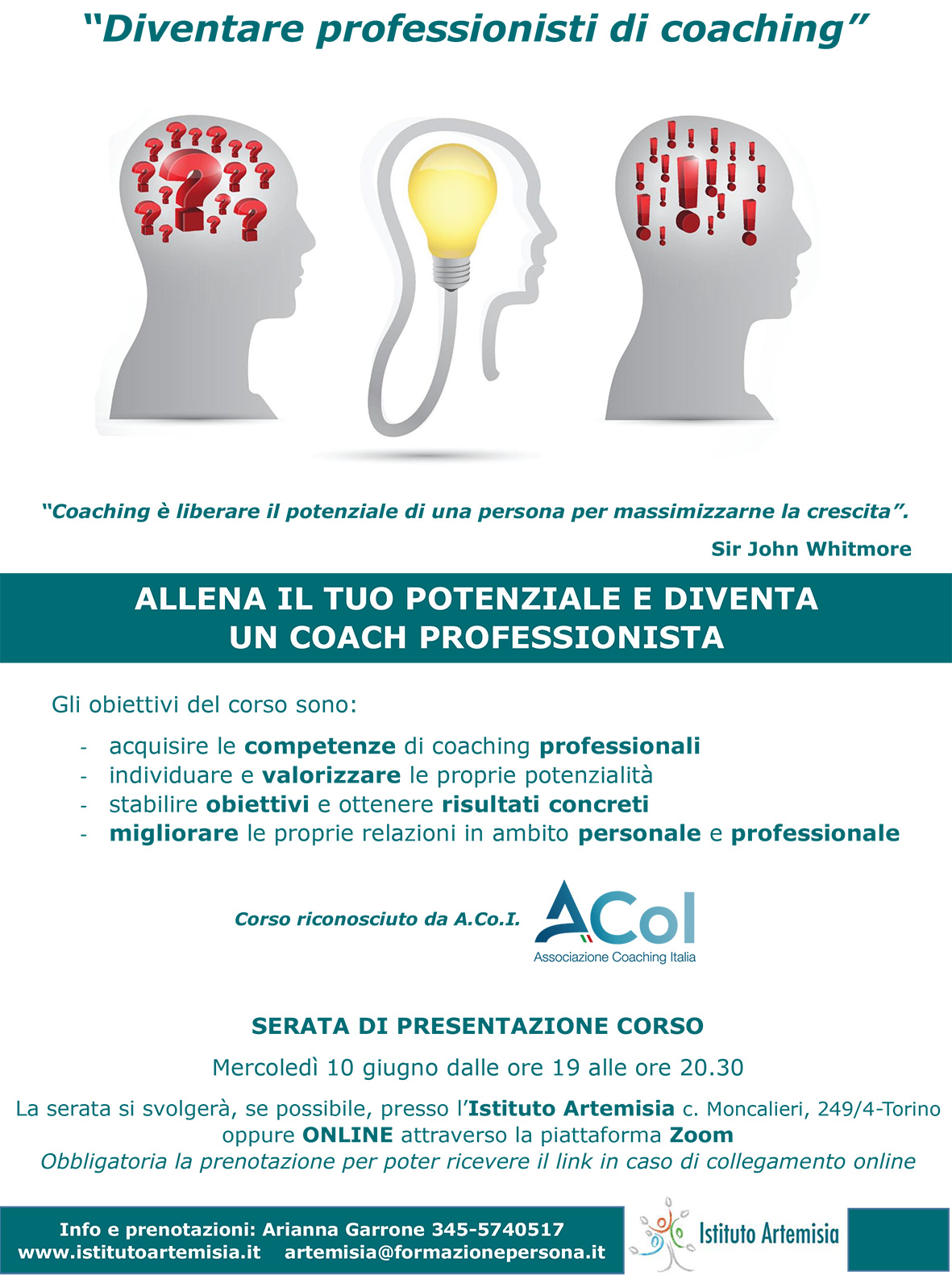 Presentazione corso di coaching professionale