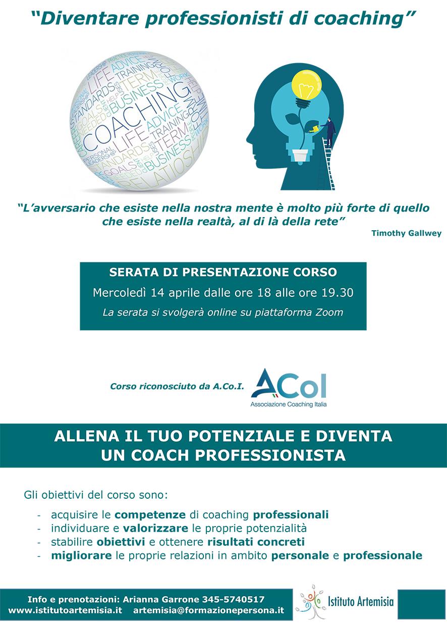Presentazione corso di coaching professionale - Aprile 2021 ONLINE