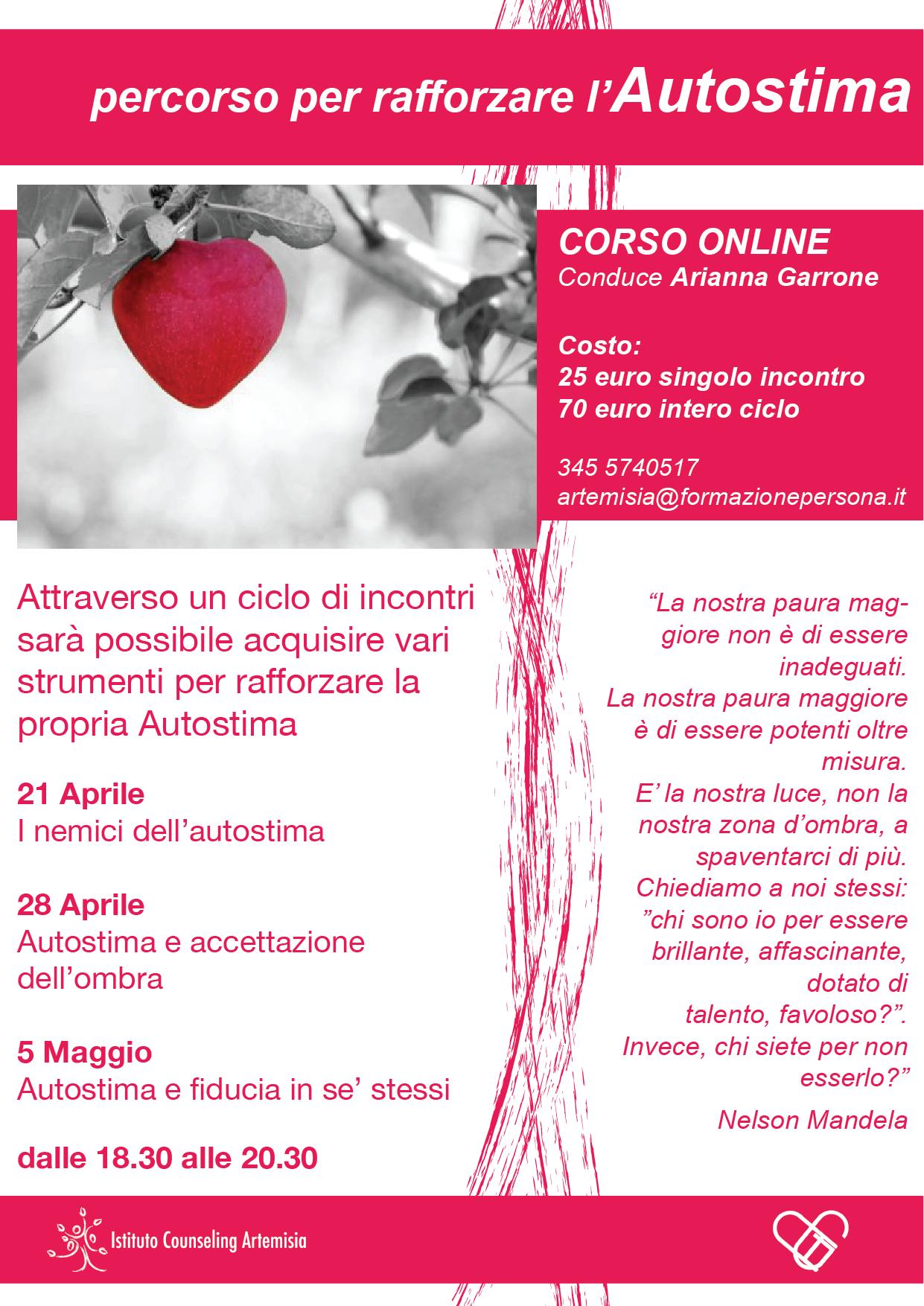 Percorso per rafforzare l'Autostima - online (secondo incontro)
