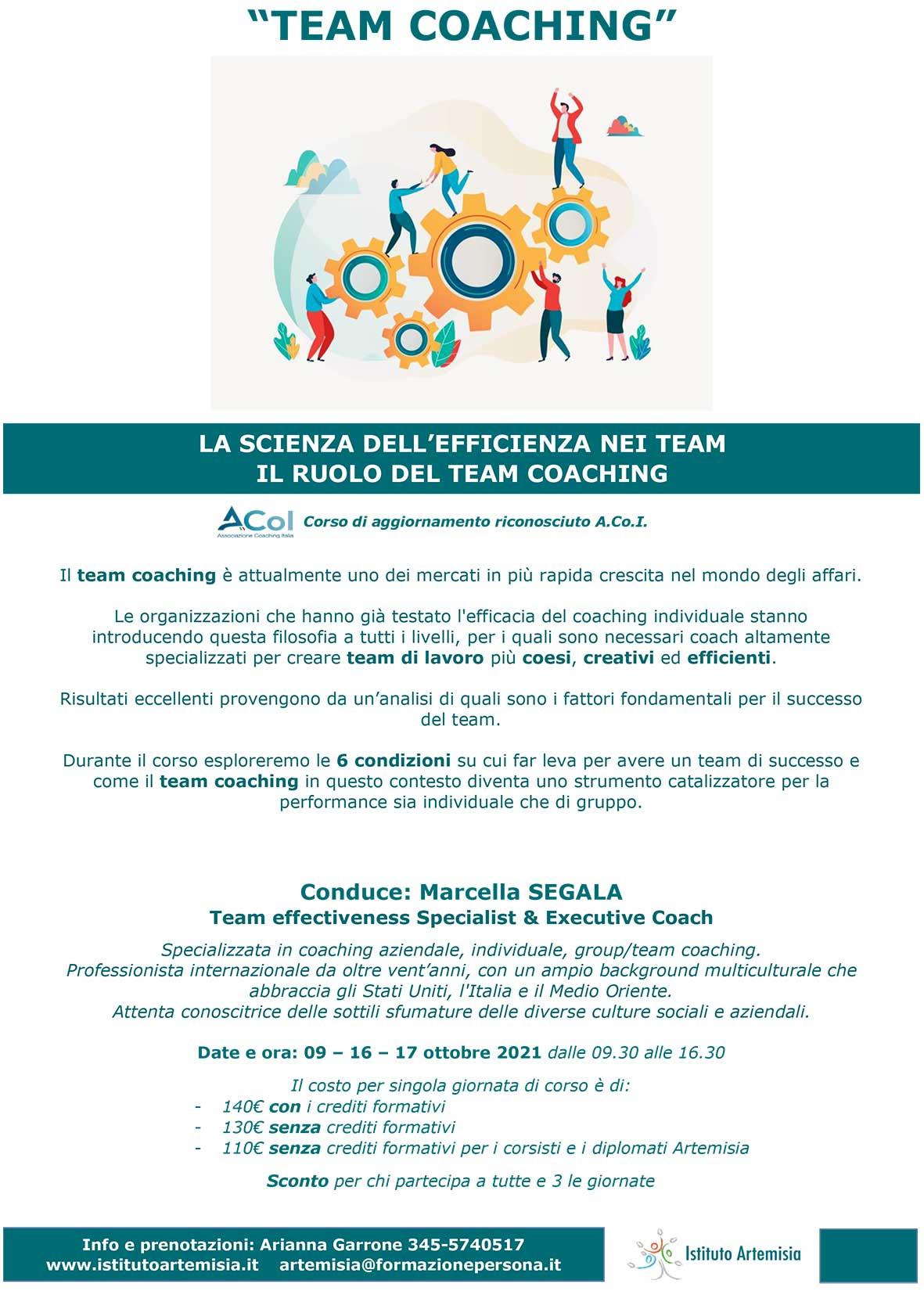 La scienza dell'efficienza nei team - il ruolo del team Coaching (primo incontro)